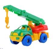 El camión del juguete de la grúa Fotos de archivo