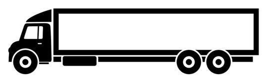 El camión largo stock de ilustración