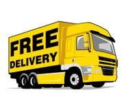 El camión libera entrega Imagen de archivo
