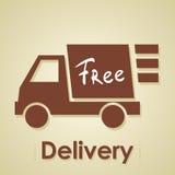 El camión libera entrega. Foto de archivo libre de regalías