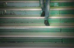 El caminar abajo de los pasos Fotografía de archivo libre de regalías