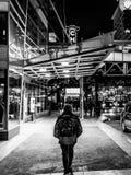 El caminar abajo de una calle de Chicago imagen de archivo libre de regalías
