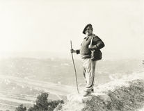 El caminar al top Imagen de archivo