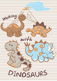 El caminar con los dinosaurios. Imágenes de archivo libres de regalías