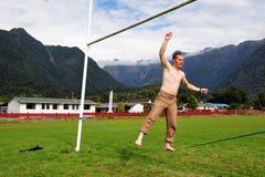 El caminar de la cuerda tirante Fotografía de archivo libre de regalías