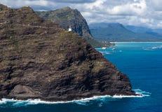 El caminar de Oahu Hawaii del faro del punto de Makapuu imagen de archivo libre de regalías