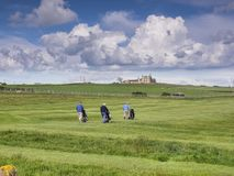 El caminar de Whitby Golf Course y de los jugadores Fotos de archivo