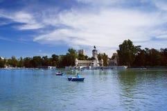 El caminar del barco del parque de Buen Retiro Imagen de archivo libre de regalías