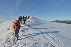 El caminar del invierno Foto de archivo libre de regalías