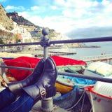El caminar en Amalfi Fotografía de archivo libre de regalías