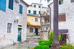 El caminar en Herceg Novi Imagen de archivo libre de regalías