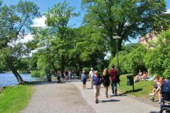 El caminar en Kungsholmen Fotografía de archivo libre de regalías