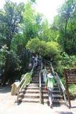 El caminar en la montaña de Danxiashan fotos de archivo