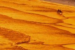 El caminar en la playa del mar