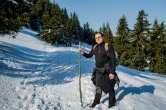 El caminar en las montañas Fotografía de archivo