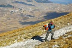 El caminar en Monte Vettore Fotos de archivo