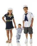 El caminar joven de los marineros Imágenes de archivo libres de regalías