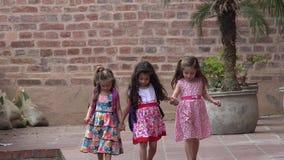 El caminar lindo y amigos de las muchachas almacen de metraje de vídeo