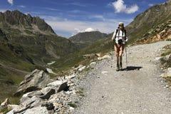 El caminar nórdico Foto de archivo libre de regalías