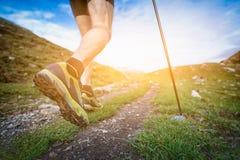 El caminar nórdico Imagenes de archivo