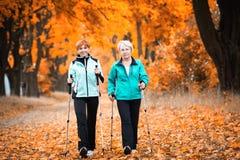 El caminar nórdico Fotos de archivo