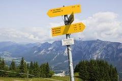 El caminar se arrastra en el Seltschacher Alm, Austria Fotografía de archivo