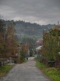El caminar a través de pueblo rumano Fotografía de archivo