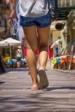 El caminar turístico Fotografía de archivo libre de regalías