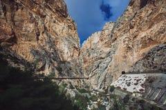 El Caminito台尔Rey Rocks,马拉加 库存照片