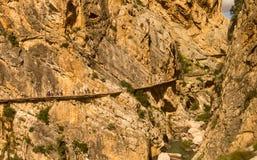 El Caminito del Rey, Андалусия, Испания стоковое фото rf