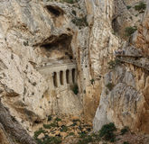 El Caminito del Rey dangerous footpath and railway Royalty Free Stock Photos