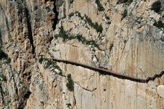 El Caminito Del Rey The królewiątka ` s Mała droga przemian blisko Malaga w Hiszpania obrazy stock