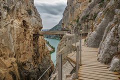 El Caminito del Rey (King's Little Path), Most Dangerous Footpath Royalty Free Stock Photo