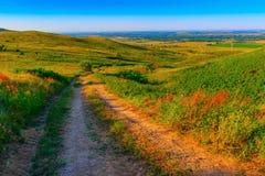 El camino abajo de la colina Fotografía de archivo