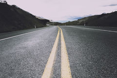El camino al cocinero National Park del Mt capturó en formato de paisaje Imagen de archivo libre de regalías