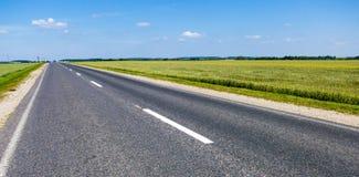 El camino al horizonte Imagen de archivo
