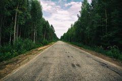 El camino al infinito imagen de archivo