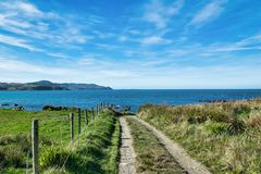 El camino al mar Fotografía de archivo libre de regalías