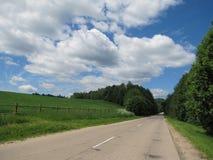 El camino al país Fotografía de archivo libre de regalías