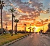 El camino al sol Imagen de archivo libre de regalías
