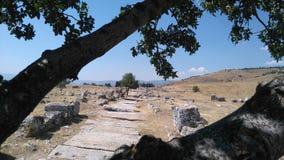 el camino central de la ciudad antigua Imagen de archivo libre de regalías