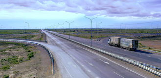 El camino China Europa-occidental occidental Foto de archivo