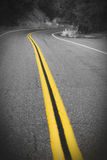 El camino con muchos da vuelta Fotos de archivo