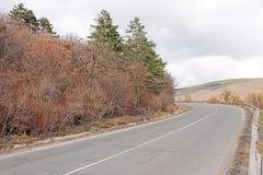 El camino con vuelta aguda Fotos de archivo