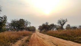 El camino conytry Foto de archivo libre de regalías