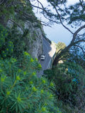 El camino costero en la costa de Amalfi Imágenes de archivo libres de regalías