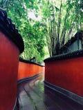 El camino coved por el bambú Fotografía de archivo