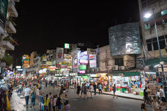 El camino de Khao San es centro del universo de los backpackers Fotografía de archivo libre de regalías
