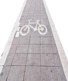 El camino de la bicicleta canta en el aislante blanco Fotografía de archivo libre de regalías