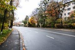 El camino de la calle de la ciudad Fotografía de archivo